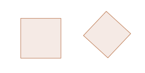 Two squares-one on edge, one on a corner